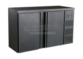 Barkoelkast | Barkoeling met 2 deuren zwart  86cm Hoog