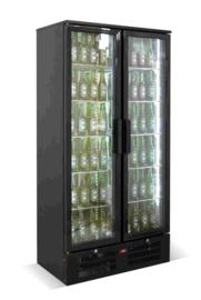 Barkoelkast | Flessenkoeling hoog  2 Glasdeuren 458 Liter