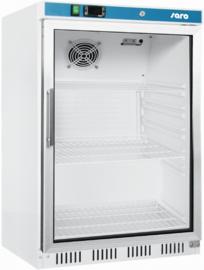 Kleine opzet onderbouw koelkast met glasdeur