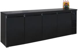 Barkoelkast | Barkoeling zwart  680 Liter  95cm hoog