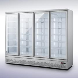 Bedrijfskoelkast met 4 glazen deuren 2025 Liter