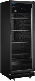 Glasdeurkoelkast | Displaykoeling zwart 360 Liter