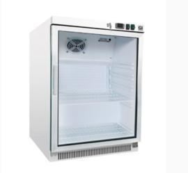Onderbouw / opzet  koeling 200 liter met glasdeur, statisch gekoeld met ventilator