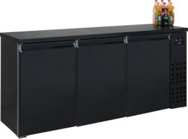 Barkoelkast | Barkoeling met 3 deuren zwart 95cm Hoog