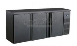 Barkoelkast | Barkoeling met 3 deuren zwart 86cm Hoog