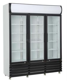 Hoge Barkoelkast | Flessenkoelkast met 3 Glazen deuren