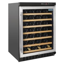 Tafelmodel wijnkoeling met RVS deur 54 flessen
