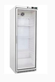 stalen koeling 400 liter met glasdeur, statisch gekoeld met ventilator