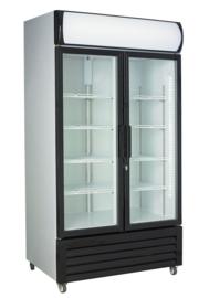 Flessenkoelkast | Glasdeurkoeling 2 deuren  670 Liter