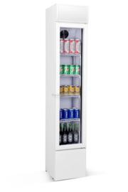 Glasdeurkoelkast | Flessenkoelkast smal model wit 105 Liter