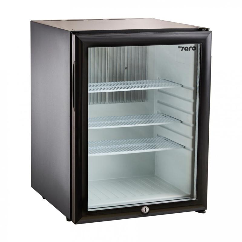 Geluidsarme koelkast | Stille koelkast | Minibar met glasdeur 36 Liter.