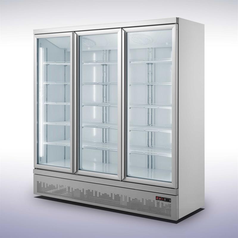 Glasdeurkoelkast 3 glazen deuren 1530 Liter
