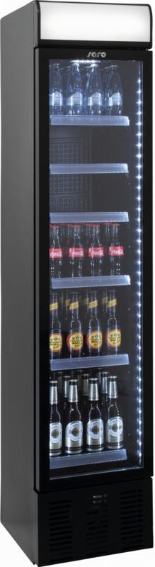 Drankkoeling | Display koelkast smal model zwart