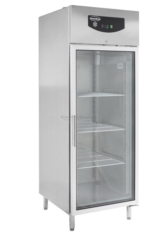 RVS Bedrijfskoelkast met glasdeur 597 Liter