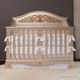 Bratt Decor Chelsea Lifetime Crib Antique Silver