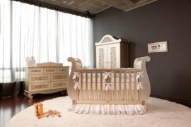 Bratt Decor Chelsea Sleigh crib antique silver