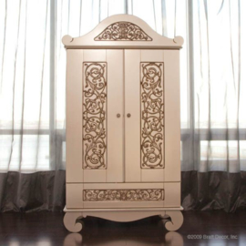 Bratt Decor Chelsea armoire antique silver
