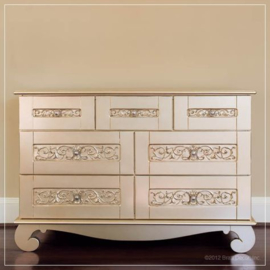Bratt Decor Chelsea Dresser Antique Silver