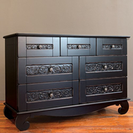 Bratt Decor Chelsea Dresser Black