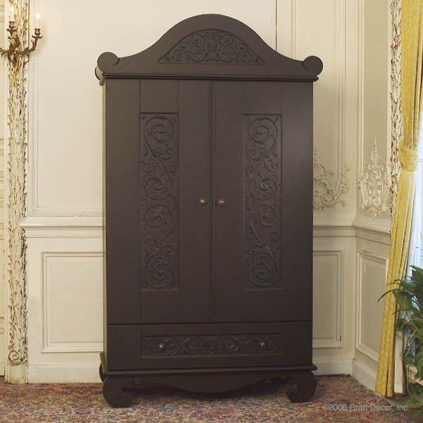Bratt Decor Chelsea armoire distressed black