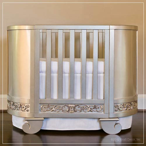 Bratt Decor Chelsea darling crib cradle antique silver