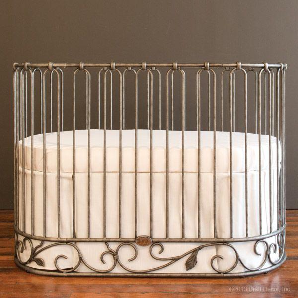 Bratt Decor Jadore Crib Cradle Pewter