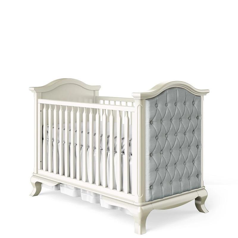 Romina cleopatra classic crib with tuffed sides