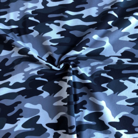 French Terry Brushed Camouflage Dark Jeans