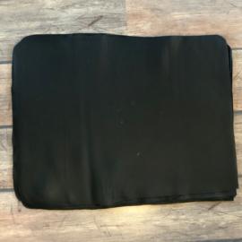 zwart leer 49 x 65 cm