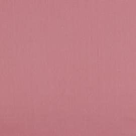 Poplin katoen uni blush - oud roze