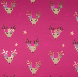 Jersey Fancy Deer Framboise