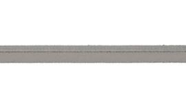 elastisch paspelband zilver