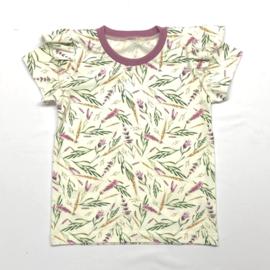 T-Shirt Lavendel met froezels