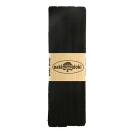 Jersey Biaisband 20 mm Zwart 3 Meter