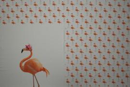 Paneel Flamingo Wit