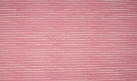 Poplin katoen strepen oud roze