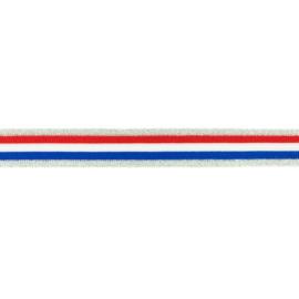 broekstreep rood-wit-blauw zilver lurex