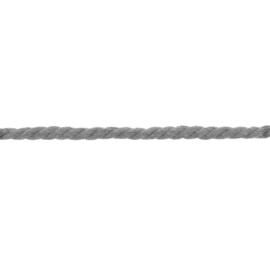 gedraaid koord 8 mm licht grijs