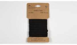 kaartje soepel zwart elastiek 5 mm 3 meter