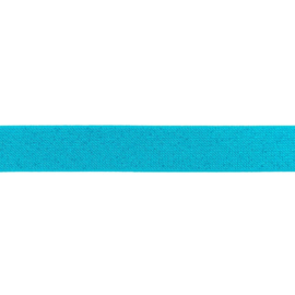 Glitterelastiek 25 mm aqua