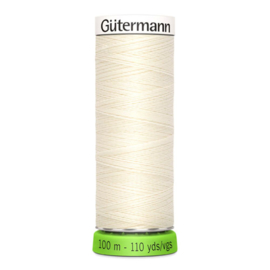 Naaigaren Gütermann R-Pet Ecru 001