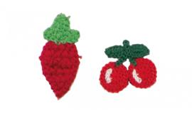 set patches fruit  gehaakt