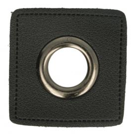 Nestels Zwart Skai Vierkant 8 mm