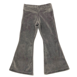 flared pants nicky velours muis grijs