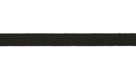 elastisch paspelband zwart