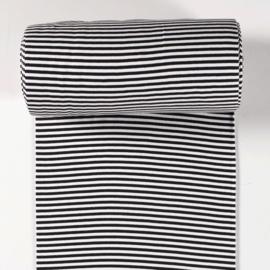 tube zwart - wit gestreept 5 mm