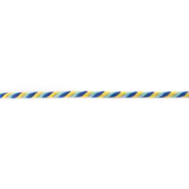 gedraaid koord 6 mm geel - licht blauw - kobalt