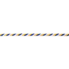gedraaid koord 6 mm wit - geel - kobalt
