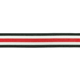 broekstreep elastiek rood 30 mm