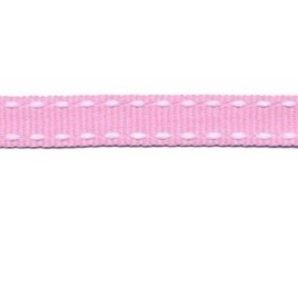 grosgrain roze wit 10 mm